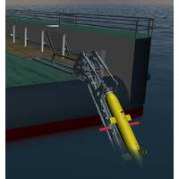 GRi Simulation: ISE Explorer AUV being recovered with a Hawboldt LARS.