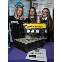 (l-r) Stephanie Buchan, Joanne McDonald and Erin Kindness - Mintlaw Academy (Photo: Subsea UK)