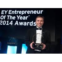Steven Gray receiving his award.