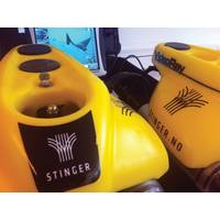 Two of Stinger's VideoRay Pro 4 ROVs.  (Photo Credit: Bjarte Langeland / Stinger)