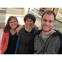 """They are the foundational recyclers of the lake."" Trina McMahon (left) Katrina Forest and UW-Madison graduate student Jeff Dwulit-Smith have helped hone our understanding of actinobacteria. (Credit: Aaron R. Conklin)"