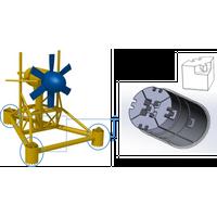 Tidal turbine ballast for fixed offshore tidal turbines