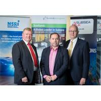 L- R: Tony Laing of NSRI, David Rennie of Scottish Enterprise and Neil Gordon of Subsea UK.(Photo: Subsea UK)