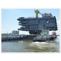 CPP topside section on barge (Credit RS)