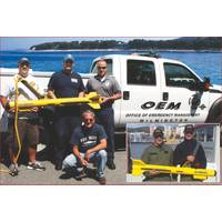 Wilmington OEM first responders with JW Fishers side scan, Inset – European military officers with Fishers sonar.