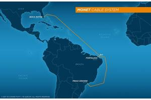 The 10,556 kilometer Monet Cable System connecting Brazil and the U.S. is ready for service (Image: TE SubCom)