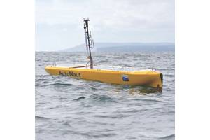AutoNaut now has 10 of its wave propelled vehicles.Image: AutoNaut
