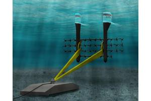 BRTP combines a Triton platform with the small and robust SCHOTTEL STG turbines for energy harvesting in the Bay of Fundy. (Image courtesy of SCHOTTEL)
