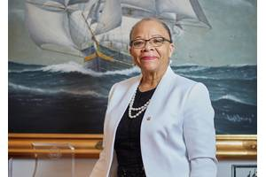 Dr. Cleopatra Doumbia-Henry, president of the World Maritime University (WMU) in Sweden. © Christoffer Lomfors