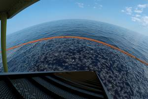 Garbage Belt:  A rendering of plastic about to be processed. Credit: Ocean Clean-Up