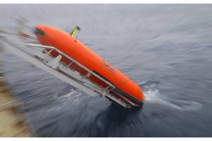 An AUV launch (Photo: Ocean Infinity)