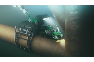 New model tool: the iCon inspection robot searches for cracks. CREDIT: OceanTech