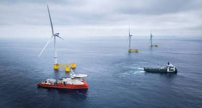 25MW WindFloat Atlantic floating offshore wind farm in Portugal  - Image Credit: ABS