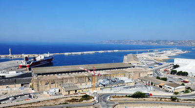 Aerial view of the port of Marseille. (Photo: Port of Marseille Fos)