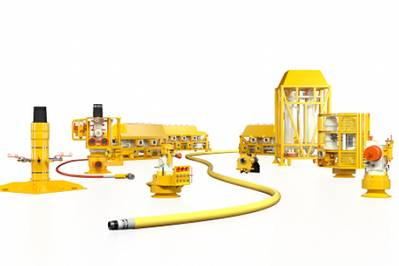 The Aptara TOTEX-lite subsea system features lightweight, modular subsea technologies that are designed to reduce lead times for equipment delivery as well as total cost of ownership for the full life of the field. (Image: BHGE)