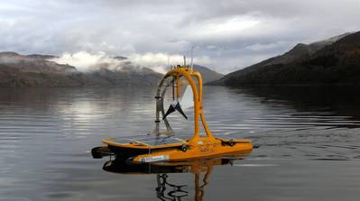 ASV's C-Enduro operating under SeeByte's Neptune software at the AAOSN trial (Photo: SeeByte)