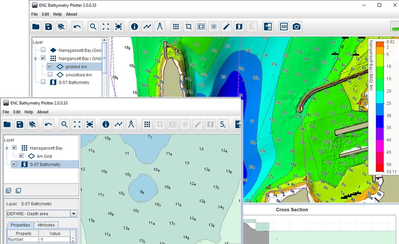ENC Bathymetry Plotter User Interface* *This image was created from data provided by courtesy of NOAA.