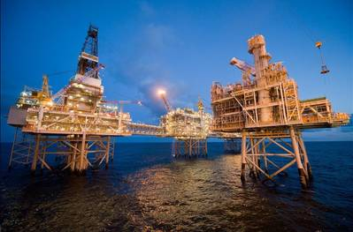 Buzzard Platform in the UK North Sea (Photo: Nexen Energy)