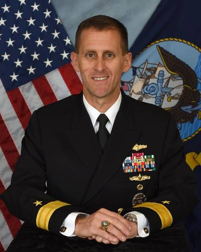 Commander, Naval Meteorology and Oceanography Command, Rear Adm. John Okon (Photo: U.S. Navy)