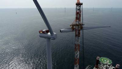 Construction at the Hornsea One wind farm (Photo: Ørsted)