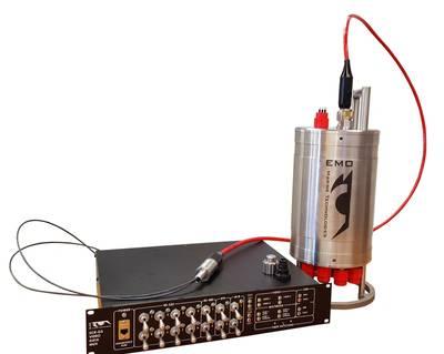EMO DOMINO-7 Mk-2 fiber optic multiplexer system (Image: MAcArtney)