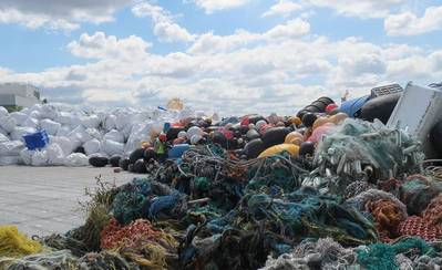 In an earlier NOAA-funded project, derelict fishing gear and other large marine debris were removed from remote Alaskan shorelines by the Gulf of Alaska Keeper. (Photo: NOAA)