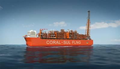 Eni's Coral Sul FLNG vessel (Image: Eni)