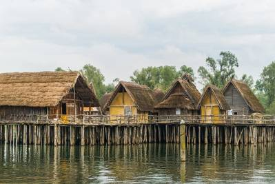 Example illustrating how pile dwellings were built by our ancestors and their way of living - via the multibeam solution (Photo: MacArtney)