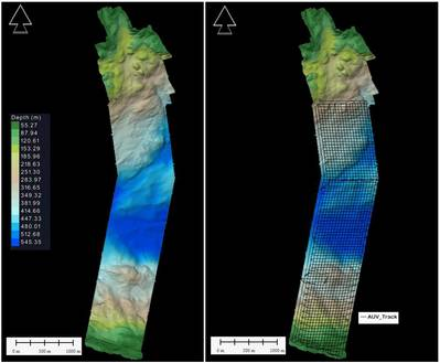 Figure 0 1 Survey Area in Bjørnafjord mapped with AUV and small vessel (Credit: DOF Subsea)