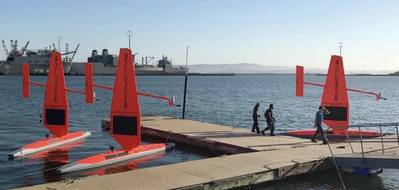 The fleet of Saildrones are being prepared for a summer and fall of science from the Bering Sea to the Arctic to the far reaches of the tropical Pacific Ocean. (Photo: Saildrone Inc.)