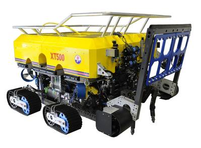 Forum Energy Technologies won an order to supply subsea equipment for a major cable maintenance project in South East Asia, specifically a Perry XT500 trenching system and Dynacon Launch and Recovery System as well as associated surface power and control installations. Photo courtesy Forum Energy Technologies.