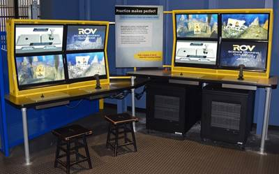 Forum's ROV simulator provides two subsea missions for visitors to California Science Center. (Photo: Forum)