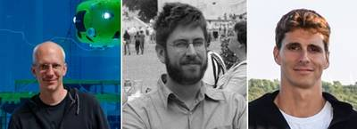 From left to right: Dr. Jan Albiez, Dr. Sylvain Joyeux and Patrick Paranhos (Photos: Kraken)