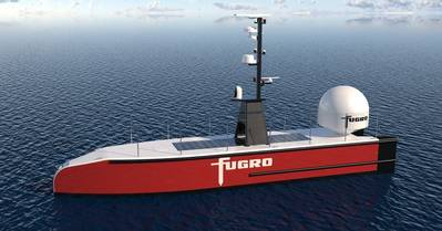 Fugro's Blue Essence uncrewed surface vessel. Image from Fugro