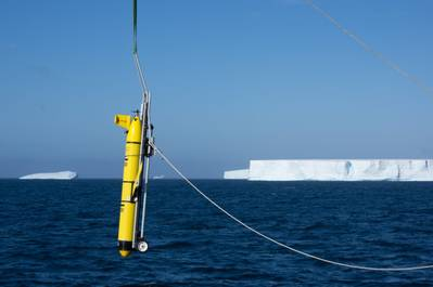 Two gliders were deployed near the A-68a iceberg near South Georgia. (Photo: Povl Abrahamsen / BAS)