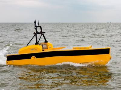 ASV Global's C-Worker 5 ASV will be outfitted with KONGSBERG equipment at Ocean Business (Photo: ASV Global )