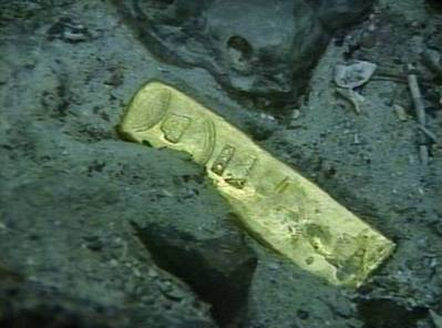 Gold recovered by Odyssey Marine Exploration from another shipwreck as part of the Tortugas project