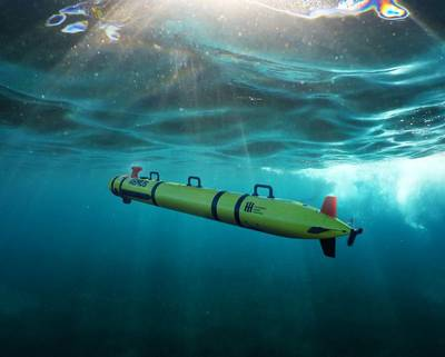 Huntington Ingalls Industries' Technical Solutions division has announced the commercial release of its REMUS 300 unmanned underwater vehicle. HII rendering.