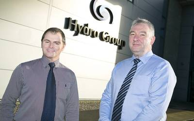Hydro Group Chris Westren, business development manager with Graham Wilkie, head of global development (photo: Hydro Group)