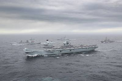 For illustration only - The Carrier Strike Group at sea off Scotland/ Credit: UK Royal Navy
