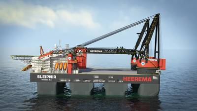 The installation for the HKZ Alpha project will be performed by one of Heerema's newest vessels, Sleipnir. (Photo: Heerema Marine Contractors)