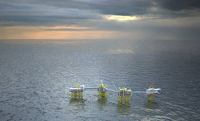 Johan Sverdrup is among the largest oil fields on the Norwegian shelf, and will at peak contribute with 25% of the production from the Norwegian shelf. The giant field is expected to start production in late 2019. The field lifetime will be 50 years, with an anticipated plateau production of 550,000-650,000 barrels of oil equivalent/day (boe/d) field capacity (Statoil share ~40%).