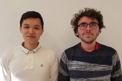 Left to right:  Soo-hyeong Kim and Andrew Olson (Photo: AgileTek)