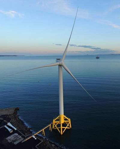 The 7MW Levenmouth Demonstration Turbine enables companies to test & demonstrate innovative new technologies. Image: Offshore Renewable Energy (ORE) Catapult