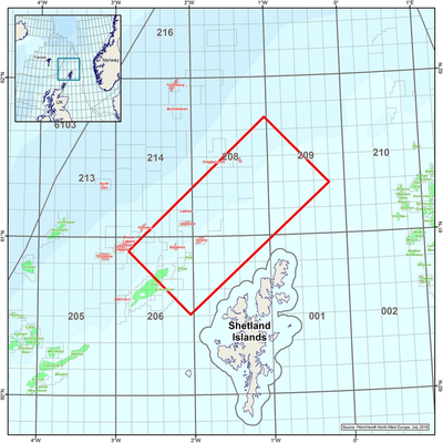 Location map for CGG's rich-azimuth survey north-west of the Shetland Isles.  (Photo: CGG)