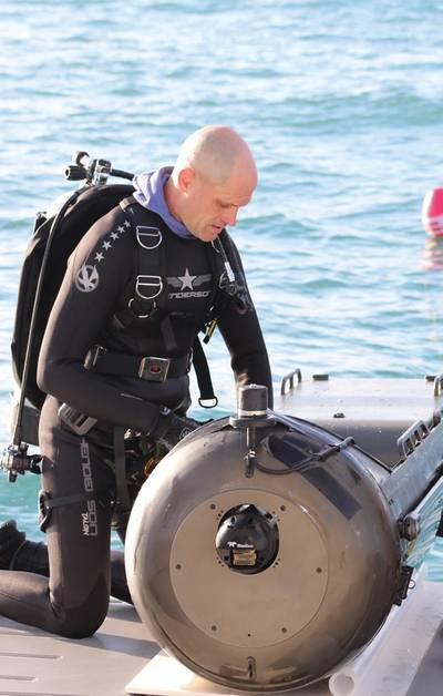 """""""The long range standoff command and control of ROVs is the single best solution to keep the warfighter safe by getting them as far as possible from a subsea threat,"""" said Ben Kinnaman, CEO of Greensea."""