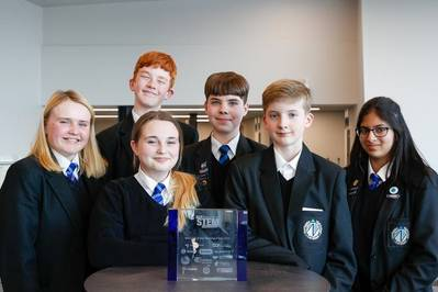 L-R Maddison Fleming, Keira-Mai Fenn, Connor Hazell, Lewis Burrell, Dylan Gooch, Prisha Brown (Photo: Subsea UK)