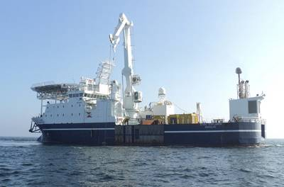 MMT´s long term chartered multipurpose vessel Stril Explorer is used in this project. (Photo:MMT)