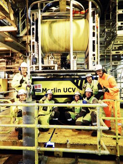 IKM mobilization crew and Statoil representatives after installation at Snorre B (Photo: IKM Subsea)