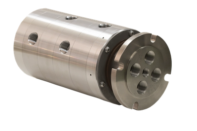 New Model 810 Pneumatic and Hydraulic Industrial Fluid Rotary Union (Image: Moog Focal)